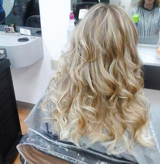 long blond ombre